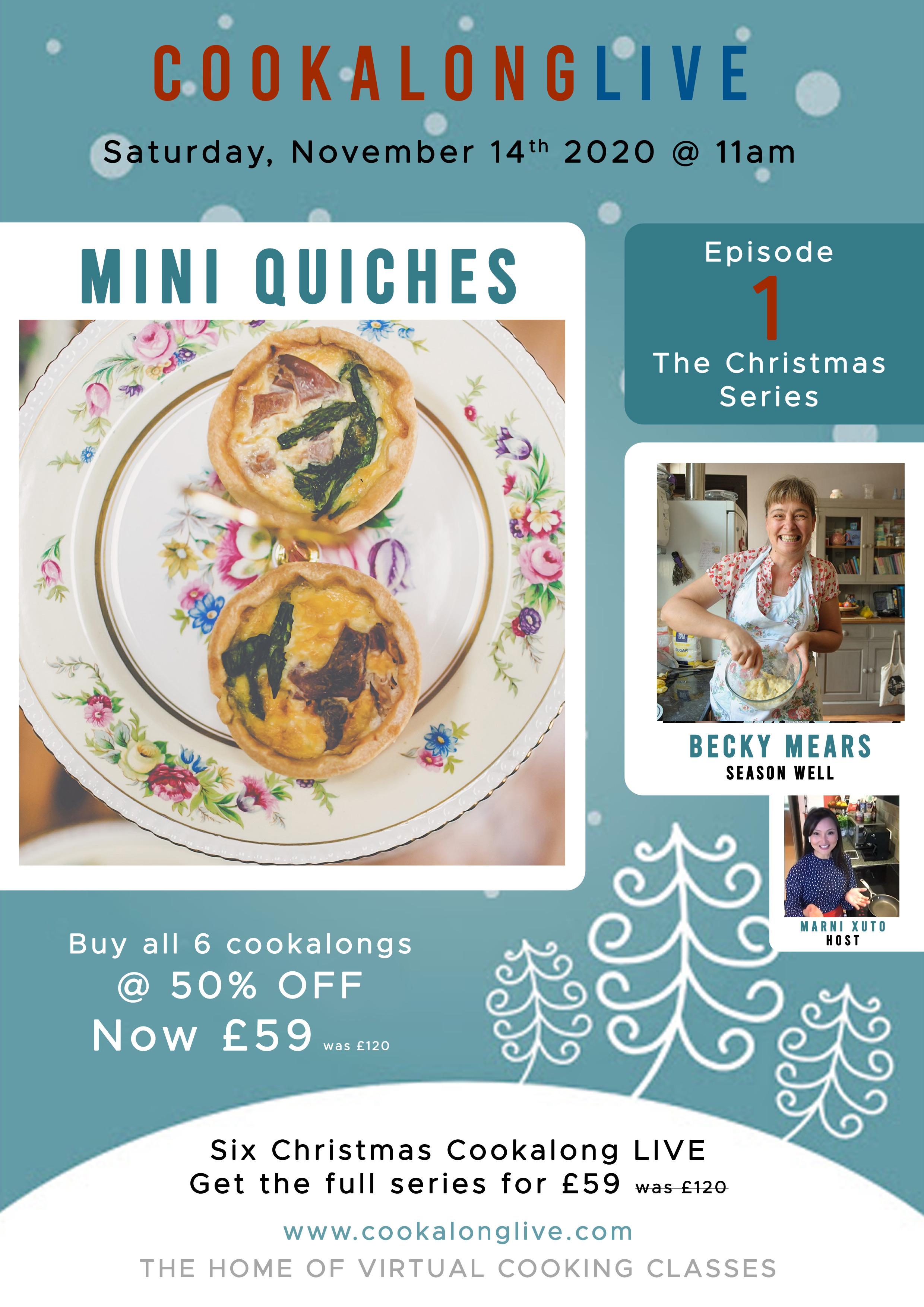 Seasonal Mini Quiches