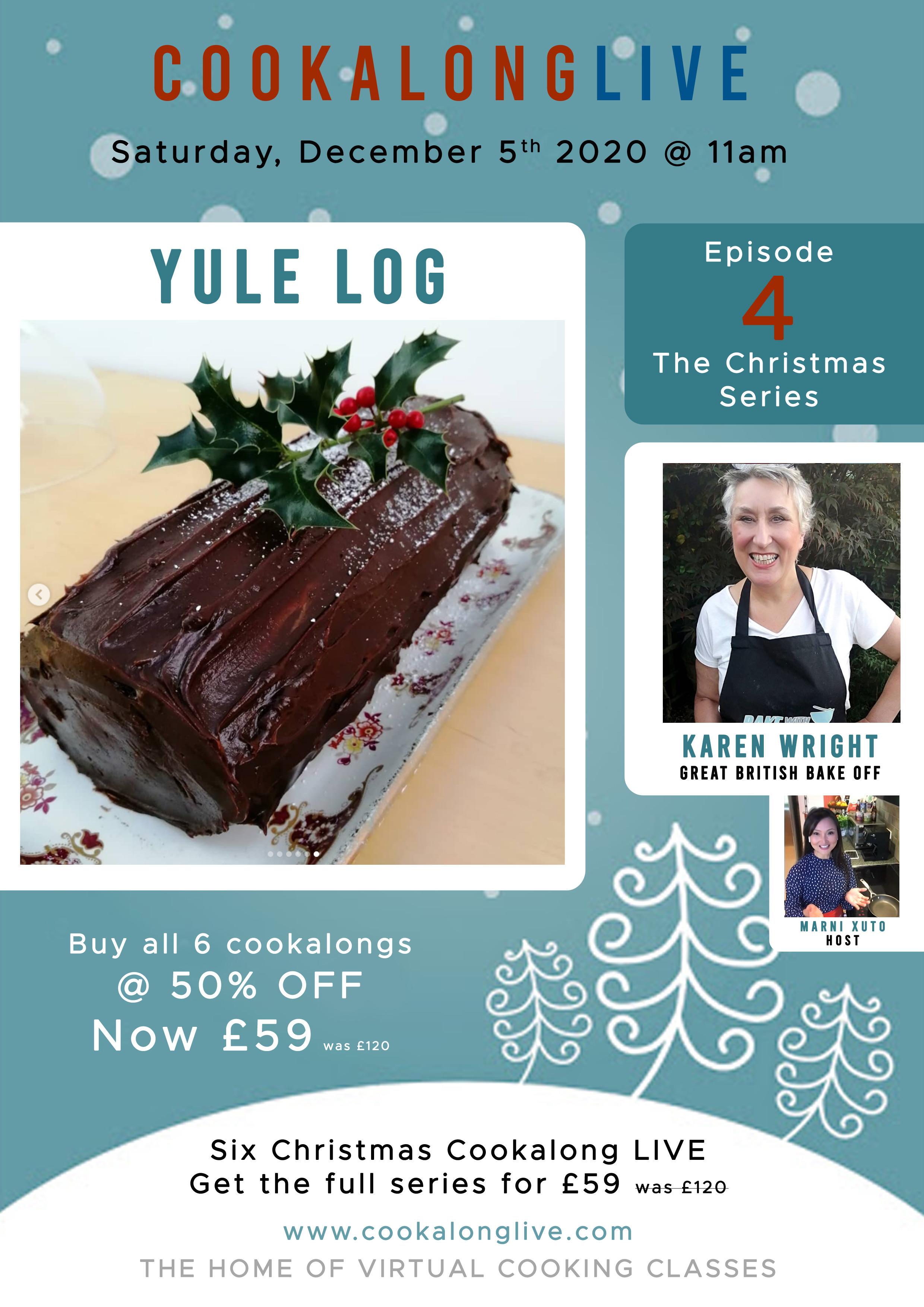 Chocolate Orange Yule Log