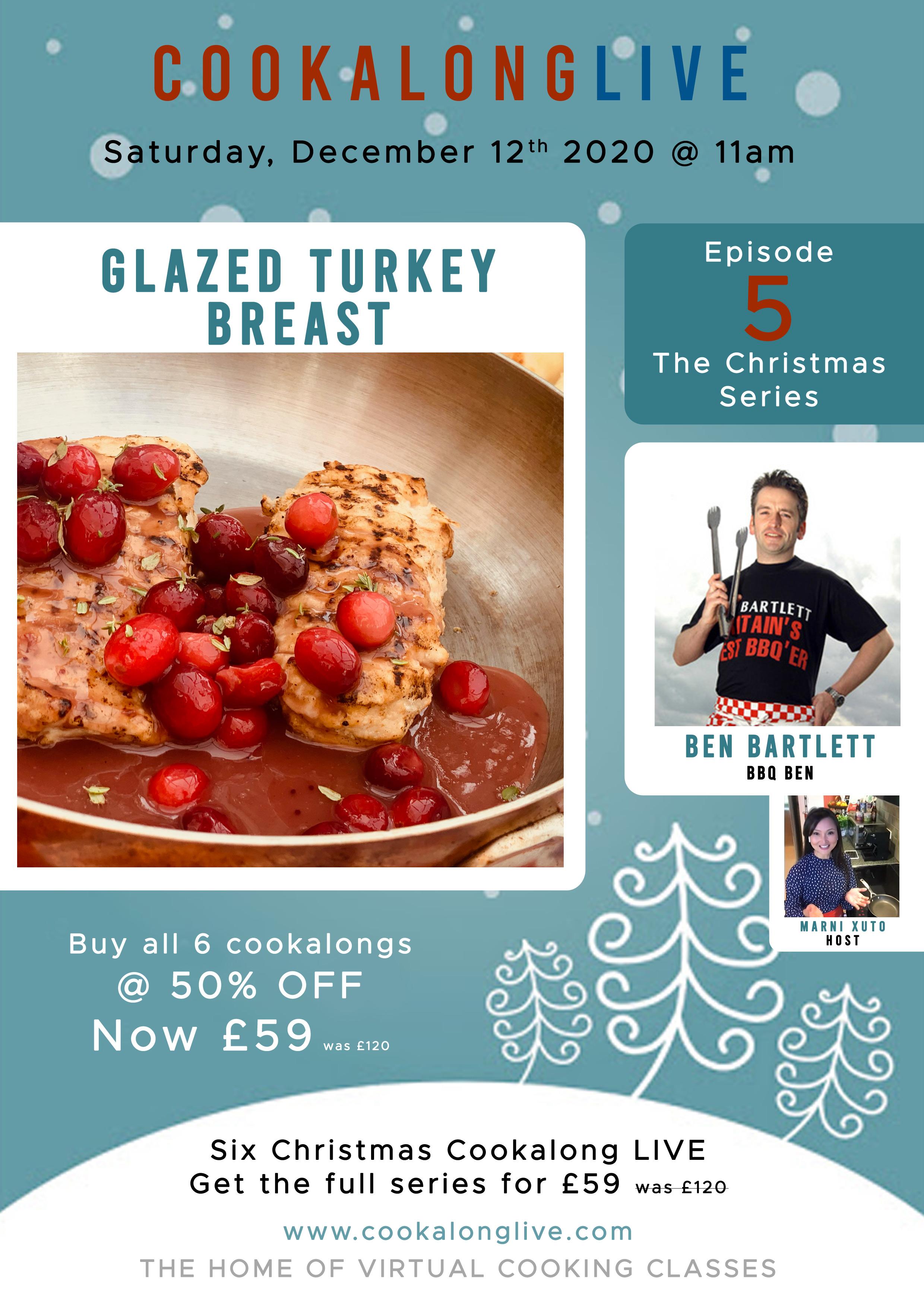 Glazed Cranberry & Thyme Turkey Breast Steaks